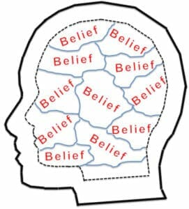 illustration of persons beliefs