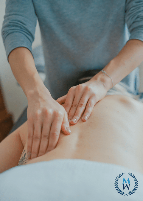 person getting professional massage