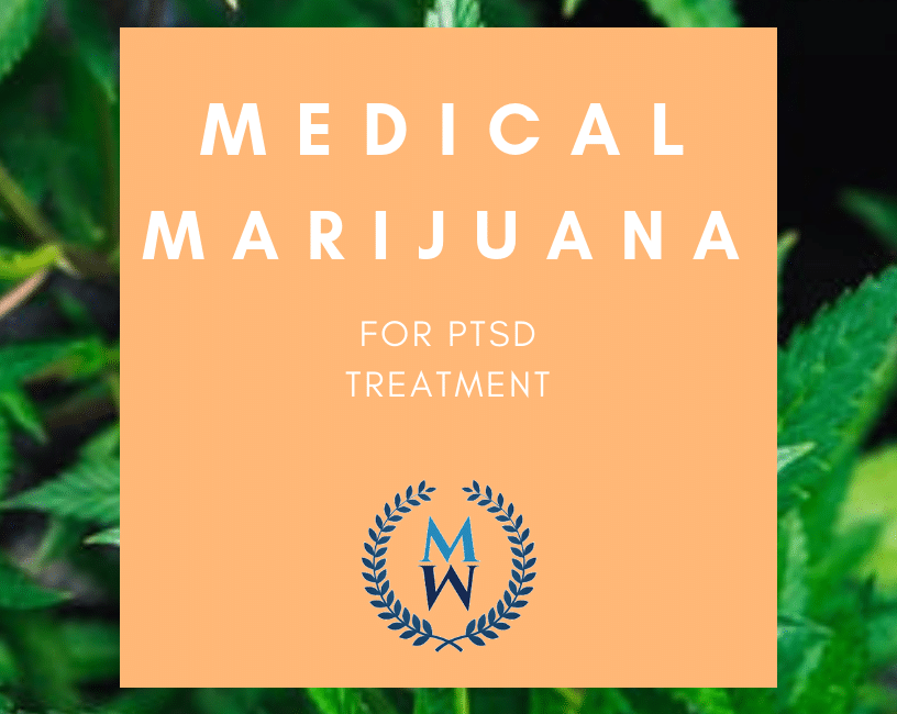 banner of medical marijuana for ptsd treatment