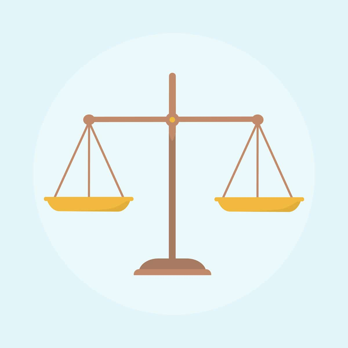 illustration of scales of justice