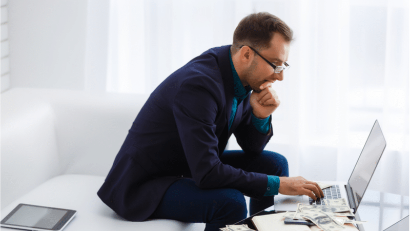 online counseling man in suit