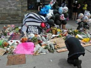 black lives matters corner memorial