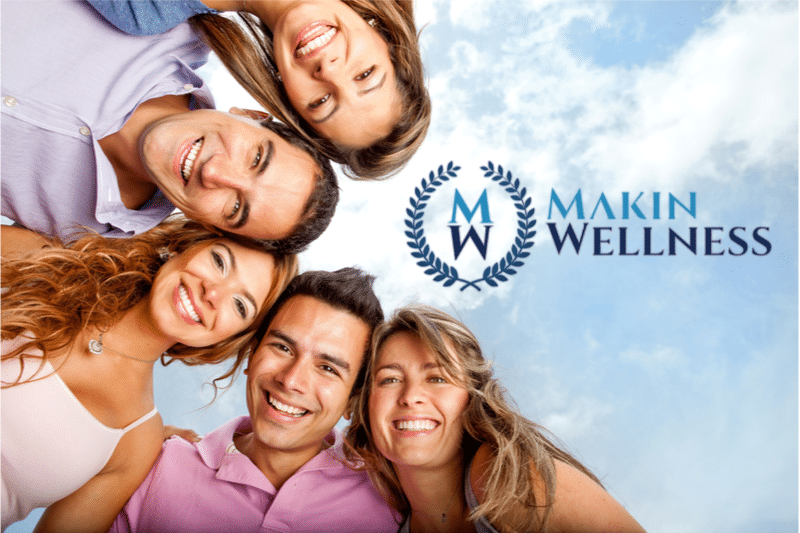 wellness today banner with happy group
