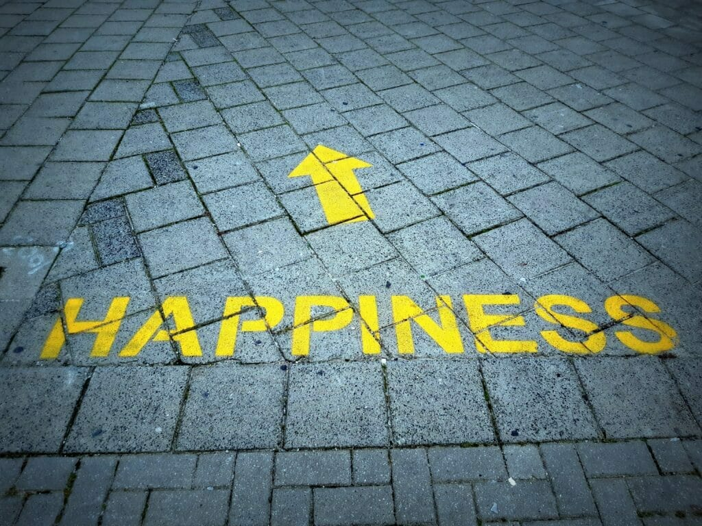 happiness sidewalk